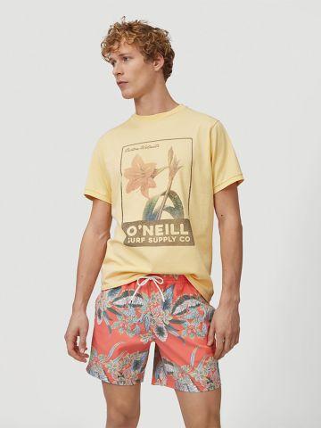 מכנסי בגד ים בהדפס טרופי של ONIELL