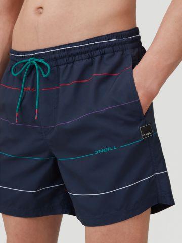 מכנסי בגד ים עם בהדפס פסים מולטי קולור / גברים של ONIELL