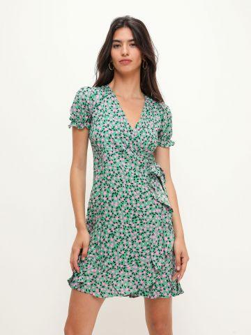 שמלת מעטפת בהדפס פרחים של YANGA