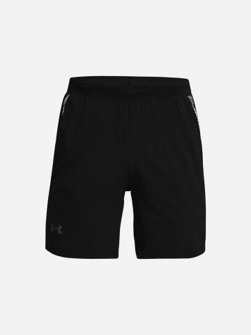מכנסי ריצה קצרים עם סטריפ לוגו / גברים של UNDER ARMOUR