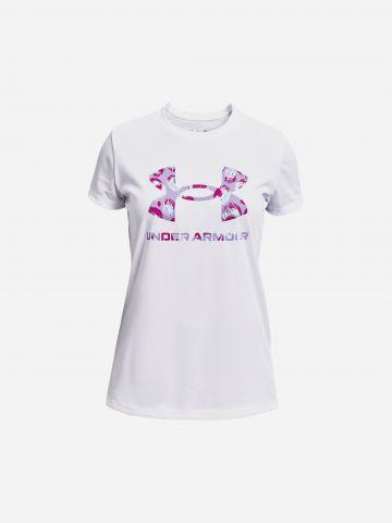 טי שירט עם הדפס לוגו / בנות של UNDER ARMOUR