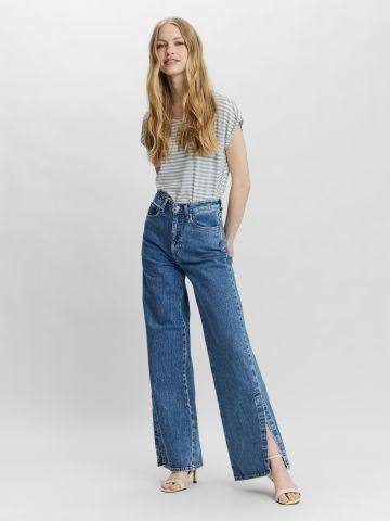 ג'ינס רחב עם שסעים של VERO MODA