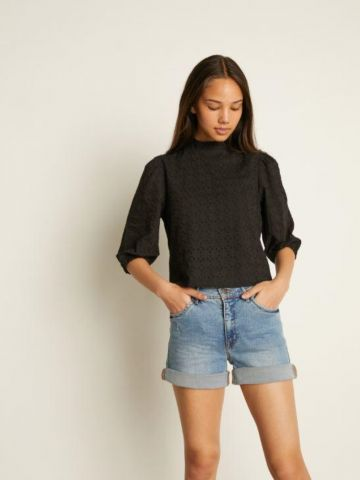 מכנסי ג'ינס קצרים בשטיפה בהירה של LMTD