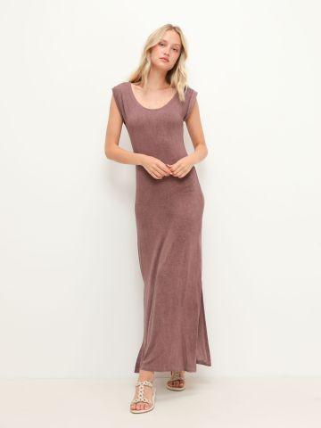 שמלת מקסי בשילוב שסע של YANGA