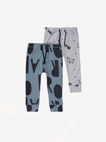 מארז 2 מכנסיים ארוכים בהדפסים שונים / 0-12M של MINENE