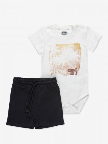 סט בגד גוף קצר ומכנסיים קצרים / 6M-24M של MINENE