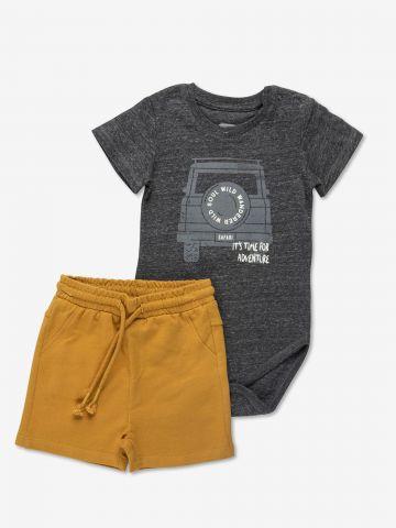 סט בגד גוף ומכנסיים קצרים / 6M-24M של MINENE
