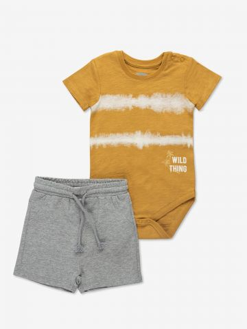 חליפת גן בגד גוף ומכנסיים קצרים / 6M-24M של MINENE