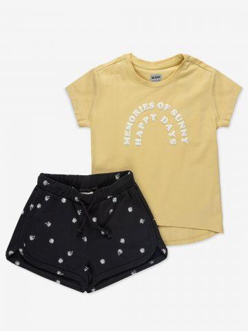 סט טי שירט ומכנסיים קצרים / 2Y-7Y של MINENE