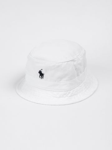 כובע באקט עם רקמת לוגו של RALPH LAUREN