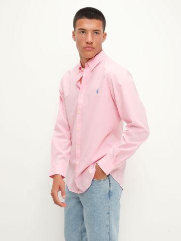 חולצת מכופתרת עם לוגו / גברים של RALPH LAUREN