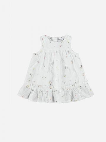שמלה בהדפס פרחים בסיומת פפלום / 1M-1.5Y של NAME IT