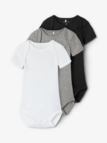 מארז 3 בגדי גוף בצבעים שונים / 1M-3Y של NAME IT