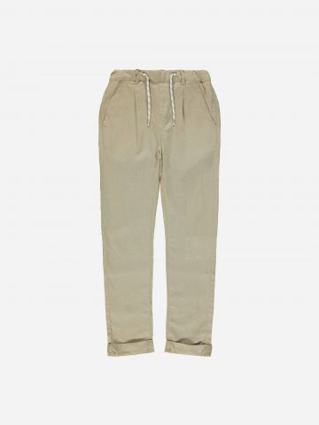 מכנסיים ארוכים פשתן בסיומת קיפול / בנים של NAME IT