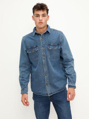 חולצת ג'ינס מכופתרת של FOX