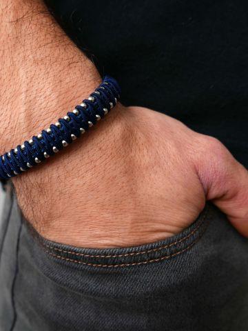 צמיד חוליות בשילוב חוט / גברים של GALIS JEWELRY
