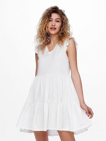 שמלת מיני קומות בשילוב מלמלה של ONLY