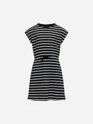 שמלה בהדפס פסים עם קשירה / בנות של KIDS ONLY