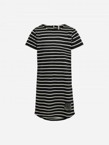 שמלה בהדפס פסים עם פאץ' / בנות של ONLY