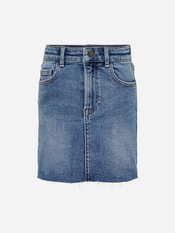 חצאית ג'ינס בסיומת גזורה / בנות של KIDS ONLY