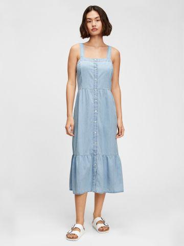 שמלה בסגנון ג'ינס בסיומת פפלום של GAP