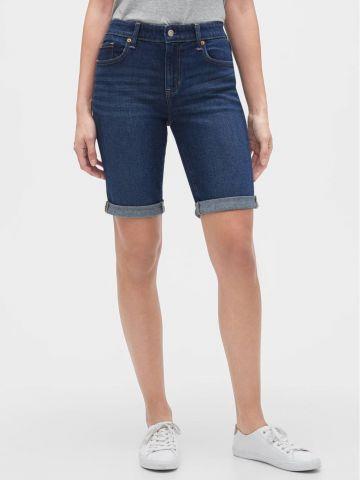מכנסי ג'ינס קצרים עם סיומת קיפול של GAP