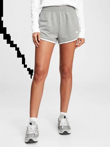 מכנסי מלאנז' קצרים עם לוגו / נשים של GAP