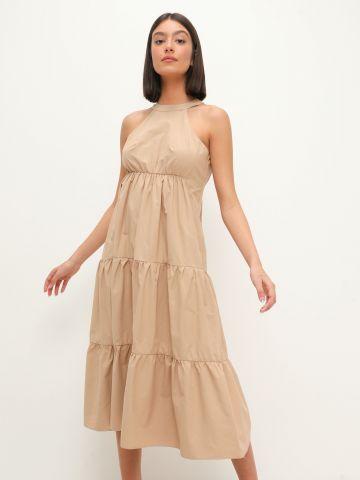 שמלת מידי קומות בשילוב קולר של YANGA