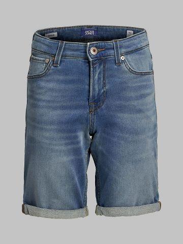 ג'ינס קצר בשטיפה בהירה של JACK AND JONES