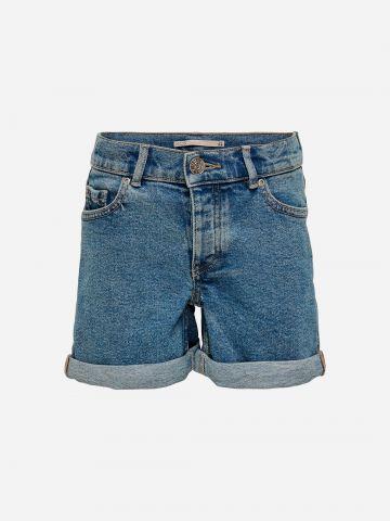 ג'ינס קצר בסיומת קיפול / בנות של KIDS ONLY