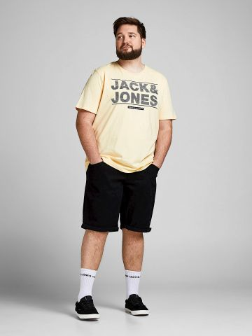 ג'ינס עם קיפול בסיומות / PLUS SIZE של JACK AND JONES
