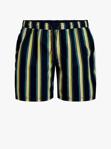 מכנסי בגד ים בהדפס פסים / גברים של JACK AND JONES
