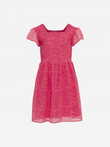 שמלה בהדפס עם שרוולים שקפקפים / בנות של KIDS ONLY