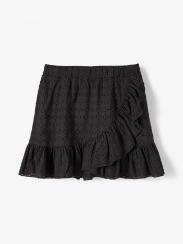 חצאית בטקסטורה בשילוב מלמלה / בנות של LMTD