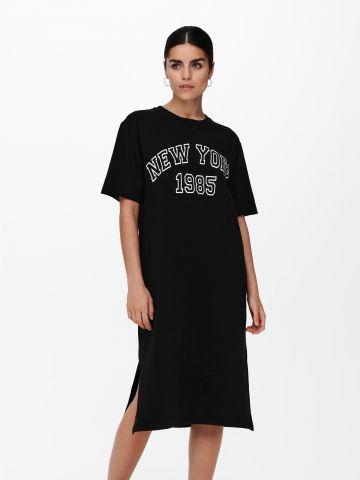שמלת מיני עם הדפס כיתוב של ONLY