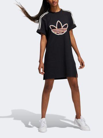 שמלת טי שירט עם הדפס לוגו של ADIDAS Originals