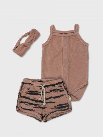 מארז בגד גוף, מכנסיים וסרט לראש מבד מגבת / 3M-2Y של MINENE