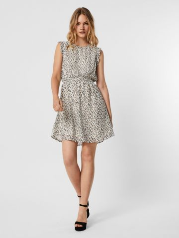 שמלה בהדפס בשילוב מלמלה של VERO MODA