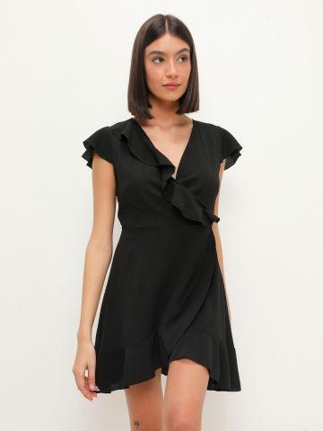 שמלת מיני בסגנון מעטפת של YANGA