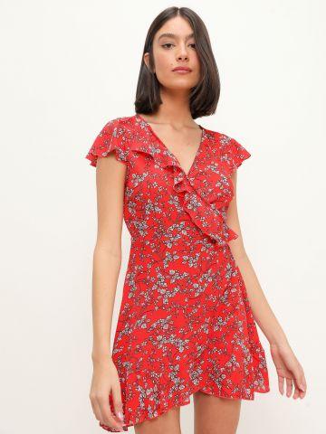 שמלת מיני מעטפת בהדפס פרחים של YANGA