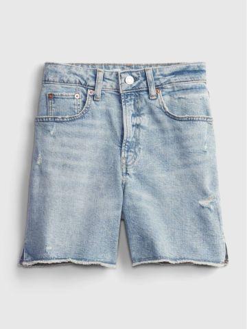 מכנסי ג'ינס קצרים בשטיפה בהירה / TEEN של GAP