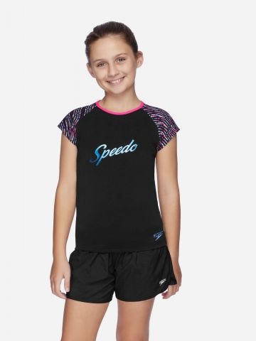 חולצת בגד ים עם הדפס של SPEEDO