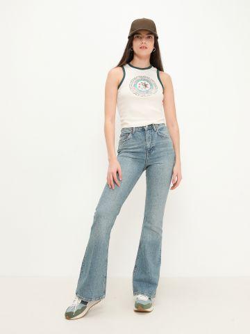 ג'ינס בגזרה גבוה עם שפשופים של URBAN OUTFITTERS