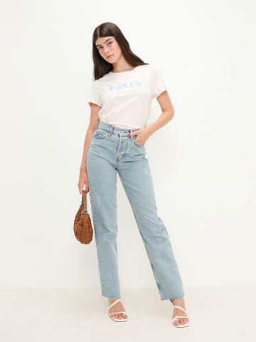 ג'ינס בגזרה גבוה בסיומת גזורה של URBAN OUTFITTERS