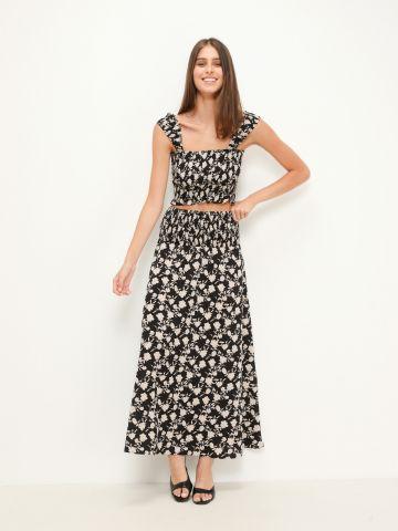 חצאית מקסי בהדפס של YANGA
