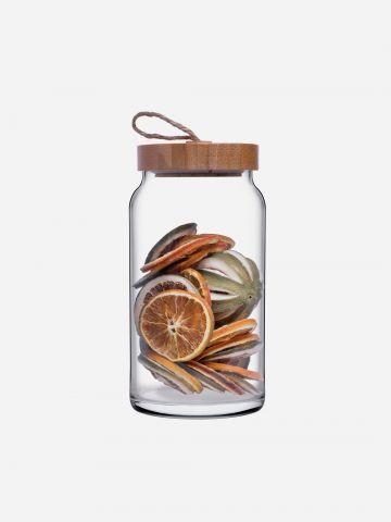 כלי אחסון מזכוכית עם מכסה Woody של ARCOSTEEL