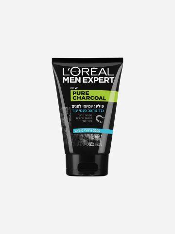 פילינג Pure Charcoal Scrub של LOREAL MEN EXPERT
