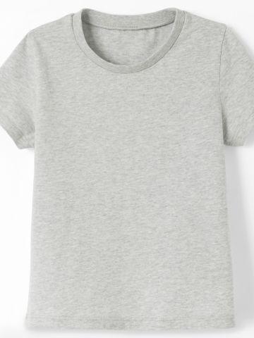 חולצת טריקו בעלת שרוולים קצרים להתעמלות תינוקות בדגם 100 / 1Y-2Y של DECATHLON