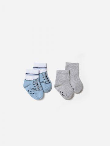 זוג גרביים מדוגמים / 0-12M של SHILAV