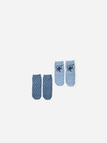 מארז 2 זוגות גרביים למניעת החלקה / 0-12M של SHILAV